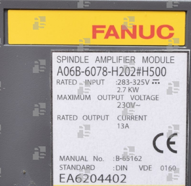 A06B-6078-H202#H500 SPINDLE AMPLIFIER SPM 2.2 TYPE I
