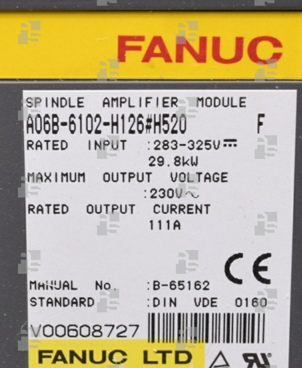 A06B-6102-H126#H520 SPINDLE MODULE SPM 26 TYPE 4