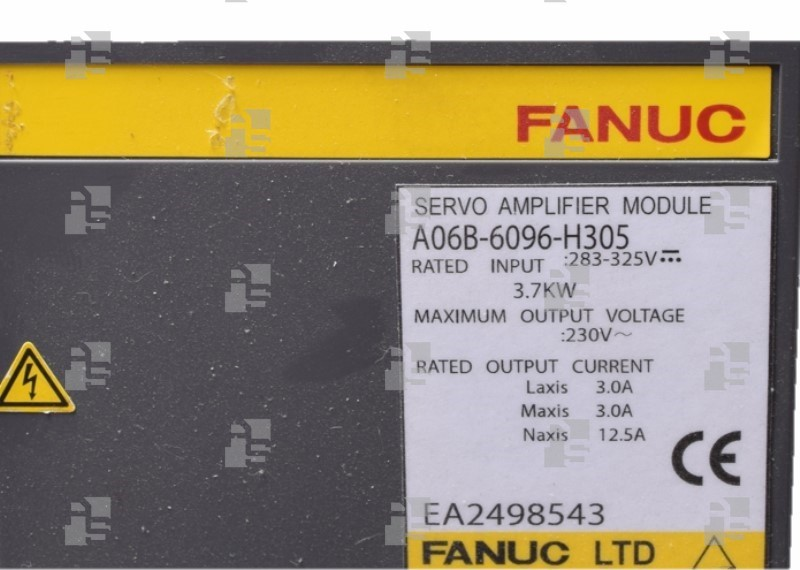 A06B-6096-H305 SERVO AMPLIFIER SVM 3-12/12/40 FSSB INTERFACE