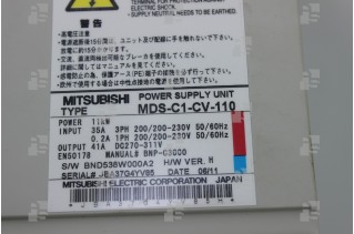 MITSUBISHI MDS-C1-CV-110 Power Supply Unit
