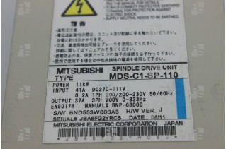 MITSUBISHI MDS-C1-SP-110 CNC Spindle drive unit